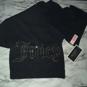Juicy Couture Black Scarf